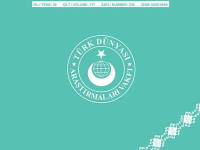 Türk Dünyası Araştırmaları Dergisi Eylül – Ekim 2017